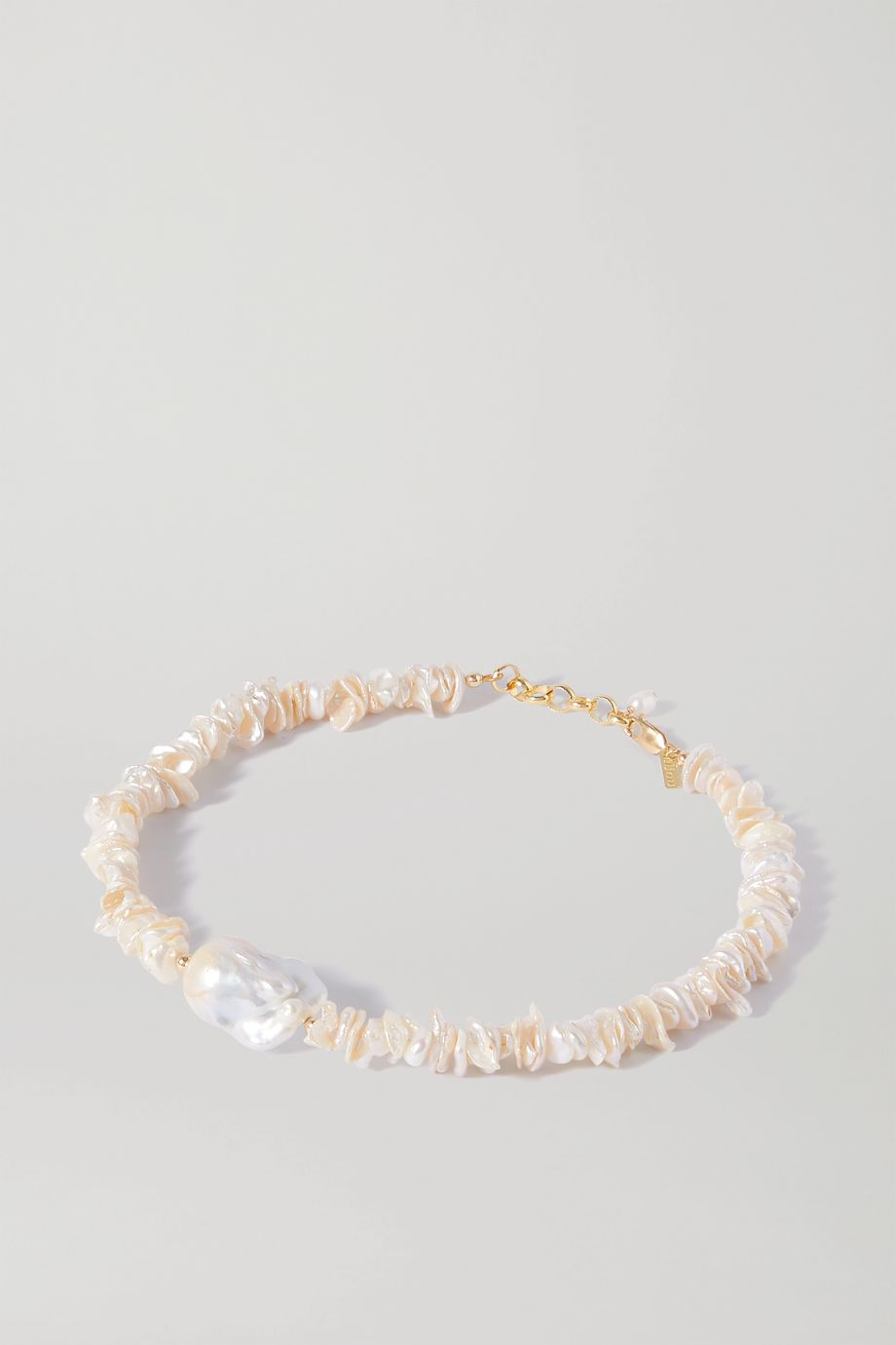 éliou Pommeline gold-plated pearl necklace