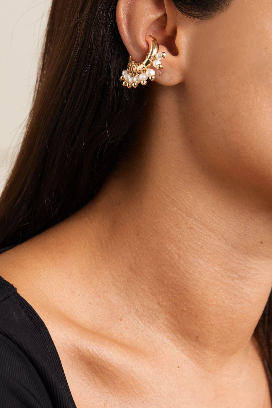 éliou Regina gold-plated pearl ear cuff
