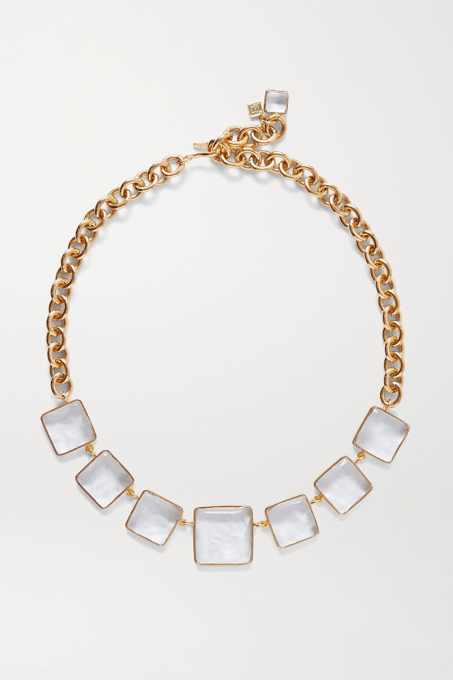 Loulou de la Falaise Gold-plated and glass necklace