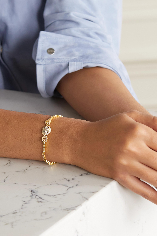 Lorraine Schwartz 2B Happy medium 18-karat gold diamond bracelet