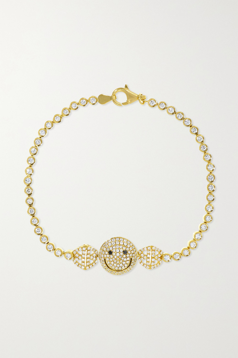Lorraine Schwartz 2B Happy medium 18-karat gold diamond bracelet