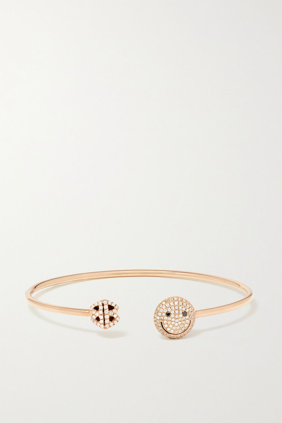 Lorraine Schwartz Happy 18-karat rose gold diamond cuff