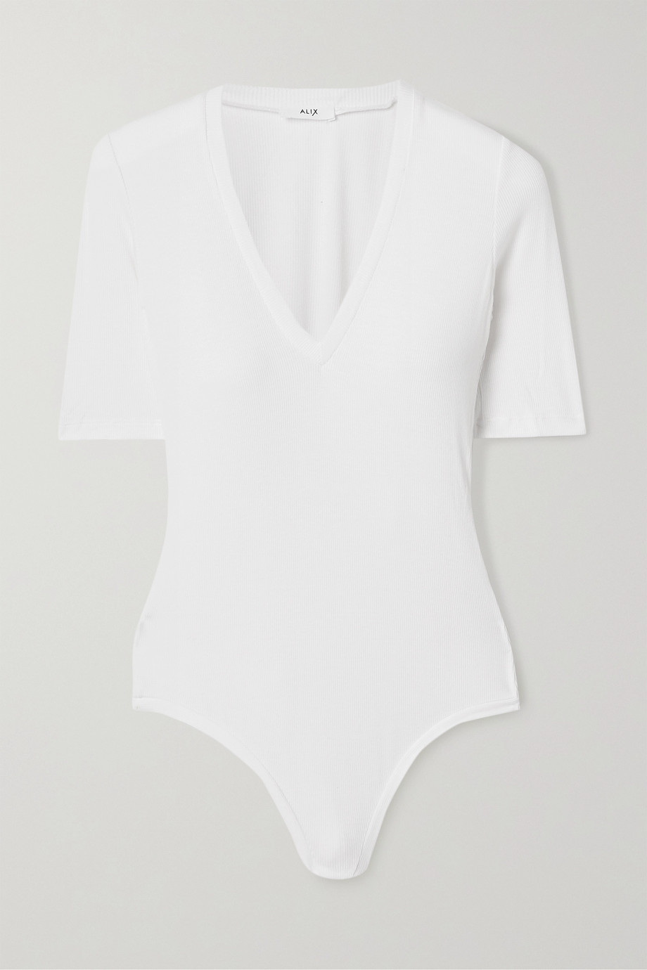 Alix NYC Bedford ribbed stretch-modal thong bodysuit