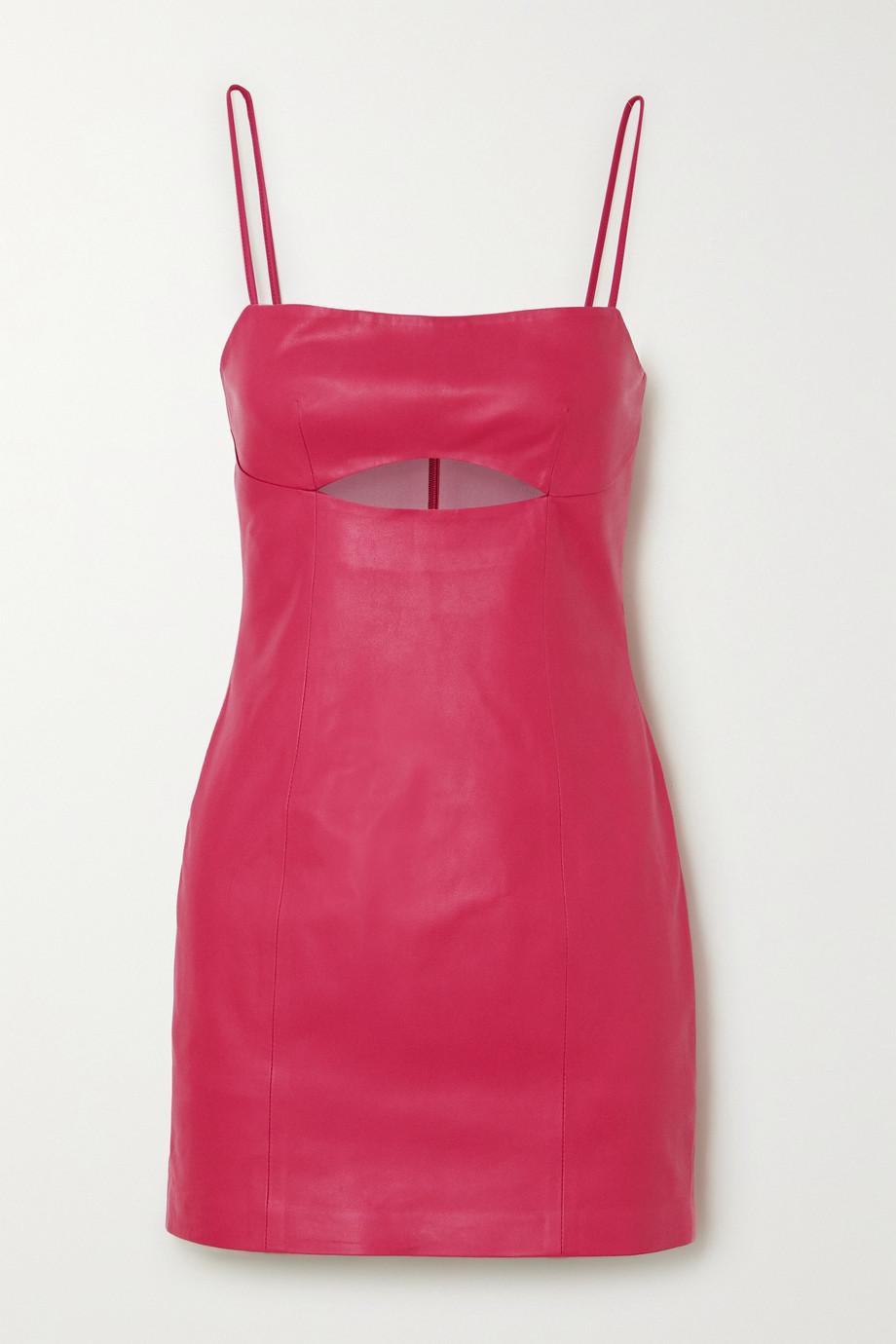 Zeynep Arcay Cutout leather mini dress
