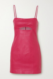 Zeynep Arcay Cutout leather mini dress