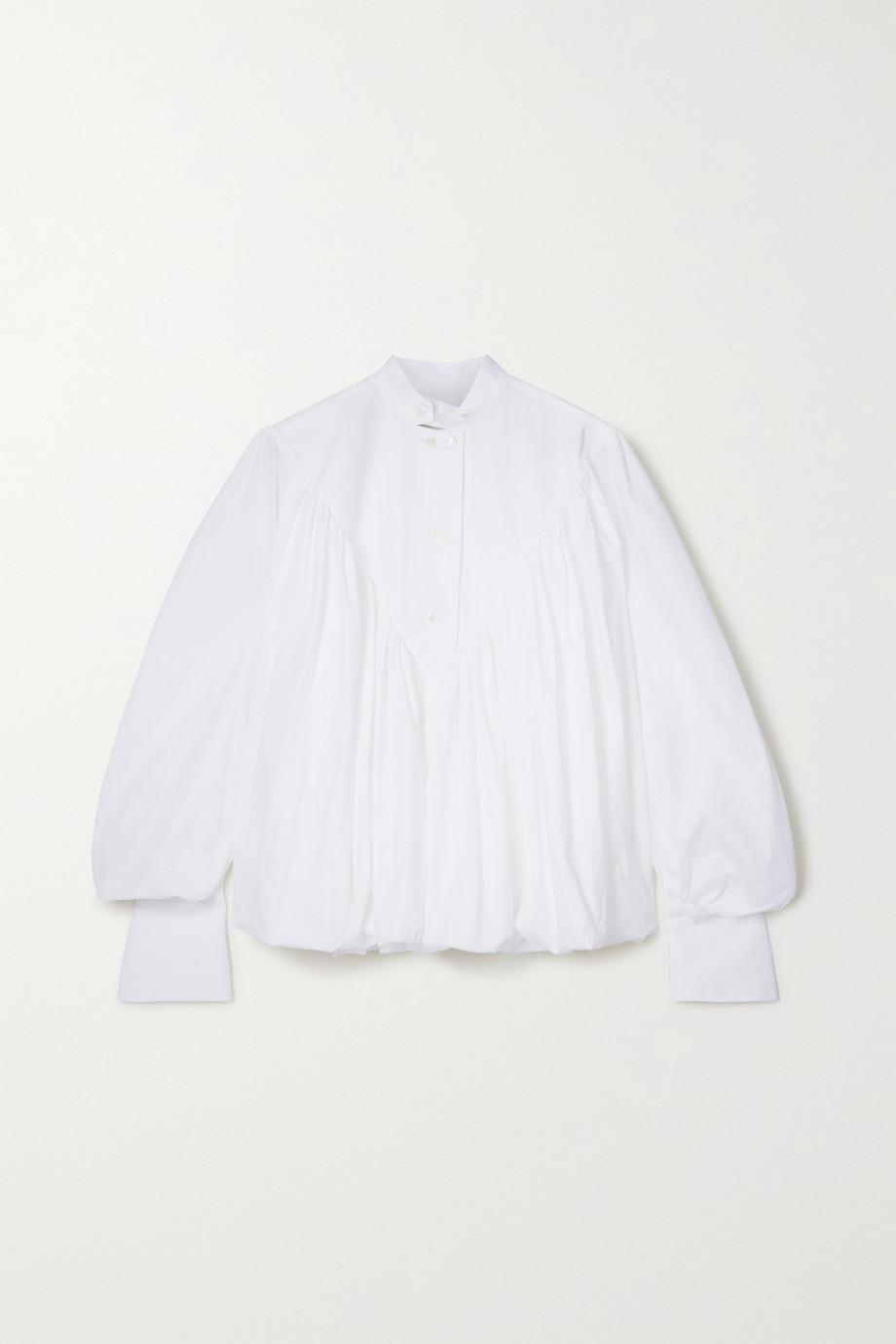 palmer//harding Ateles Hemd aus Popeline aus einer Baumwollmischung mit Falten