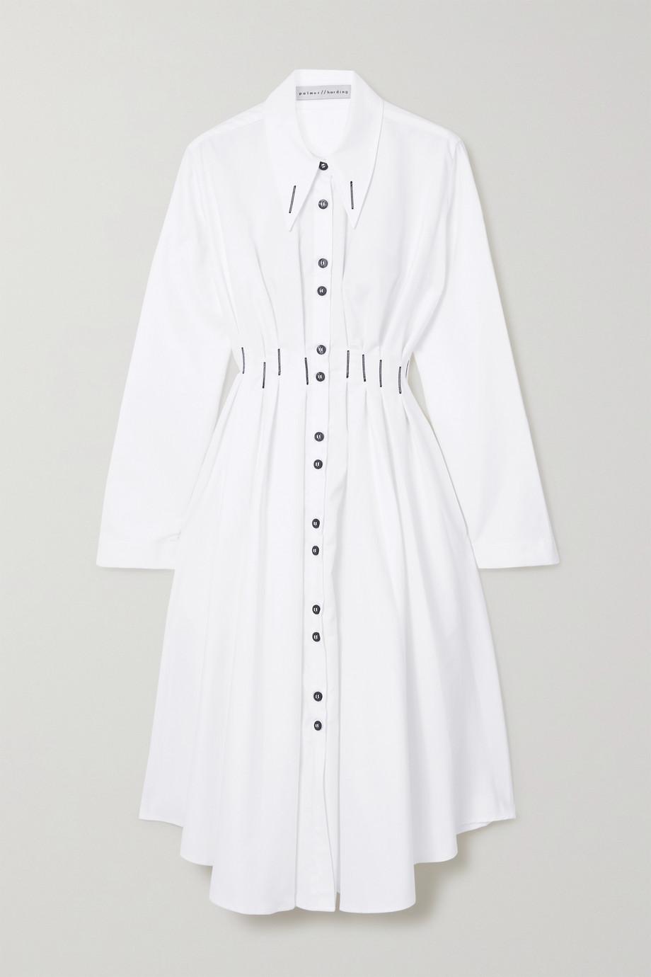 palmer//harding Escen Hemdblusenkleid aus Baumwoll-Piqué mit Stickereien