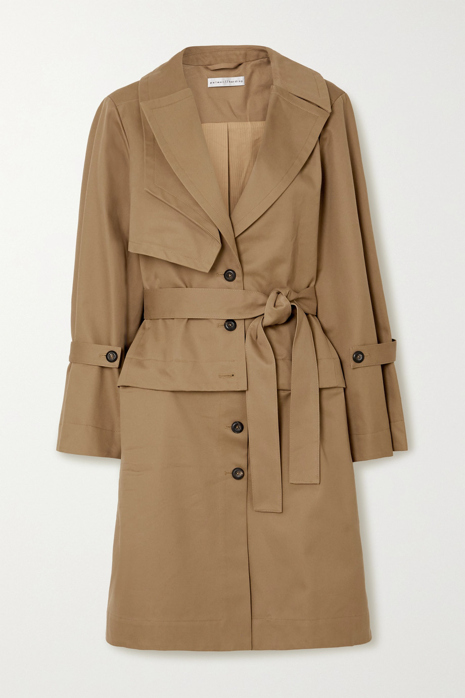 palmer//harding Cebus convertible cotton-drill trench coat