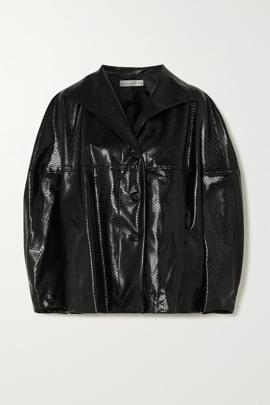 palmer//harding Rhesus oversized snake-effect faux leather jacket