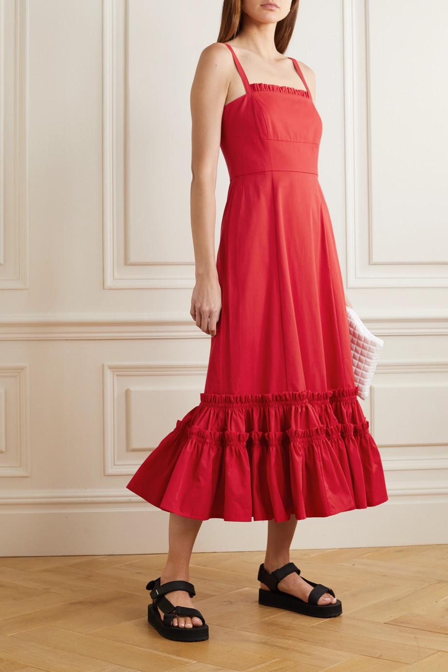 Molly Goddard Como ruffled cotton midi dress
