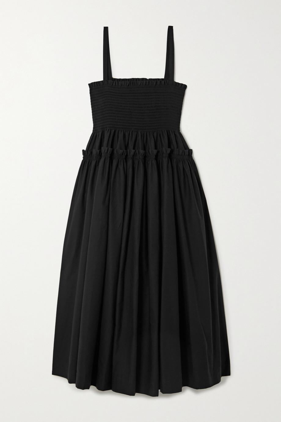 Molly Goddard Marlene shirred tiered cotton midi dress