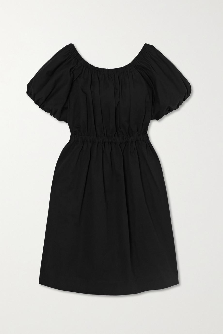 몰리 고다드 Molly Goddard Honey cotton mini dress,Black