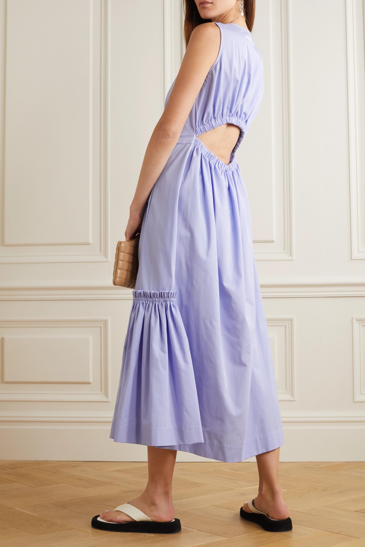 Molly Goddard Marella open-back ruffled cotton midi dress