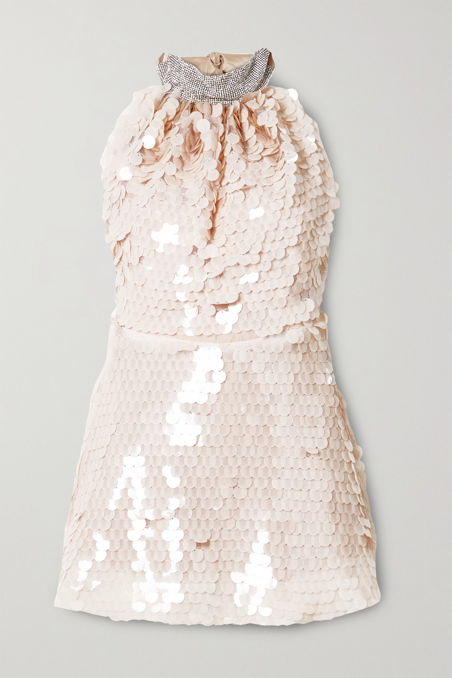 HARMUR Crystal and paillette-embellished tulle mini dress