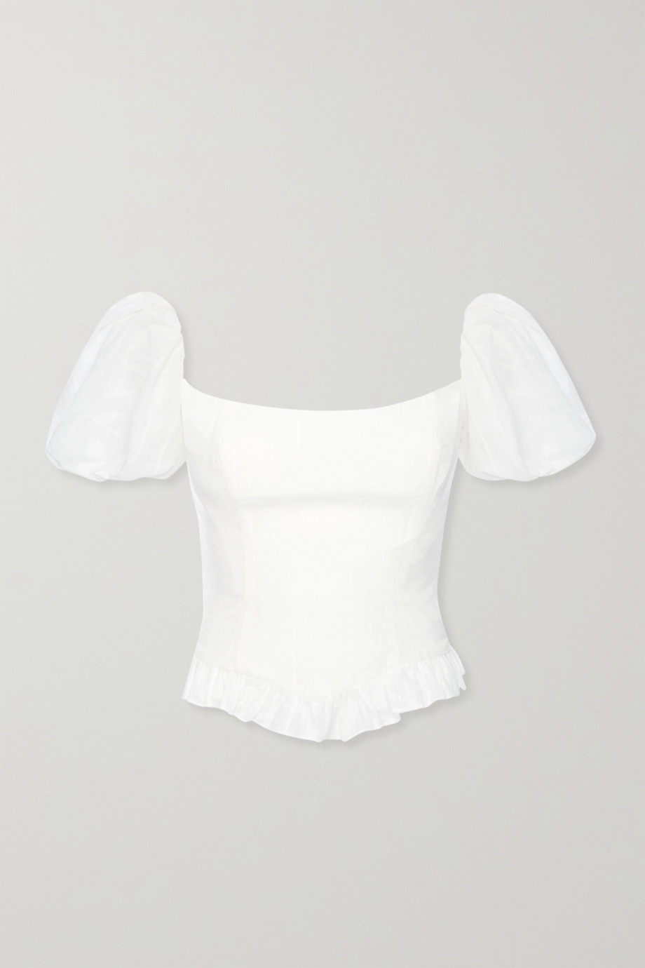 De La Vali Koko ruffled fil coupé cotton top