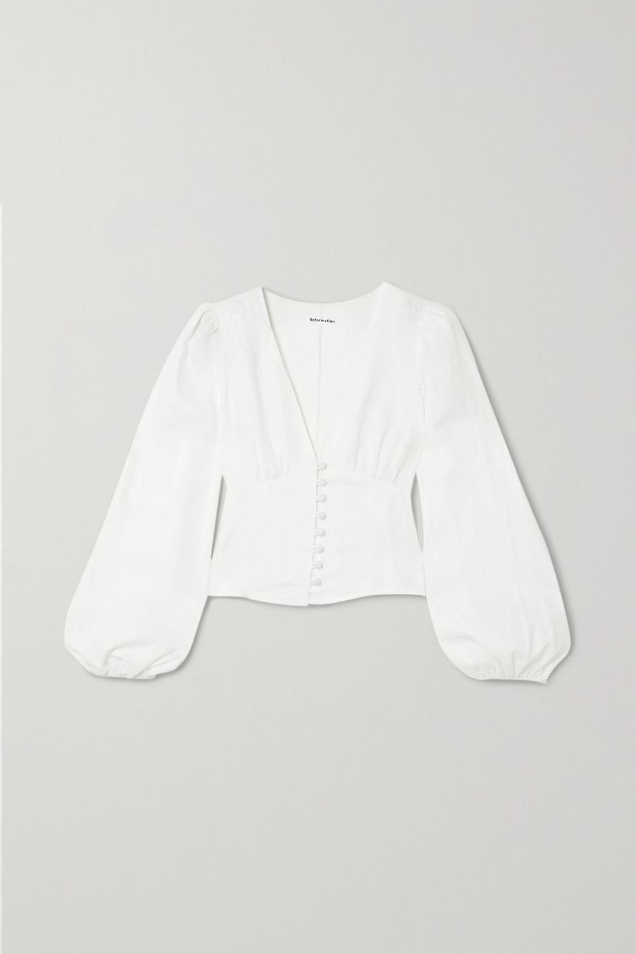 Reformation Aryn linen blouse