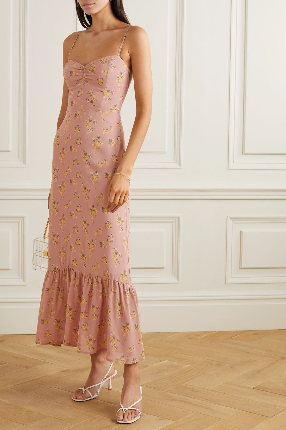 Reformation + NET SUSTAIN Emersyn floral-print georgette maxi dress