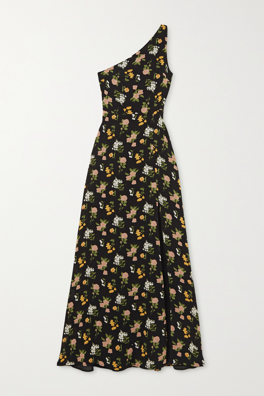 Reformation + NET SUSTAIN Evelyn one-shoulder floral-print georgette maxi dress