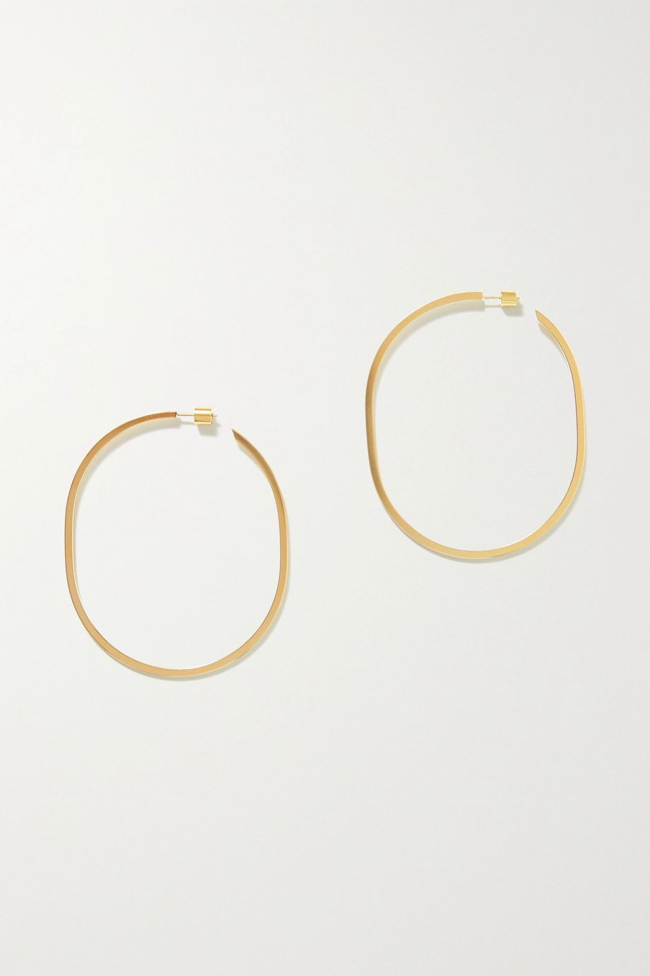 Jennifer Fisher Oval Thread gold-plated hoop earrings