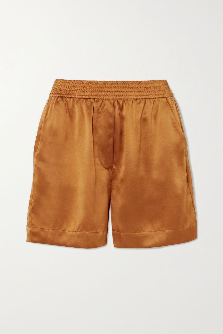 Reformation + NET SUSTAIN Bleecker silk shorts