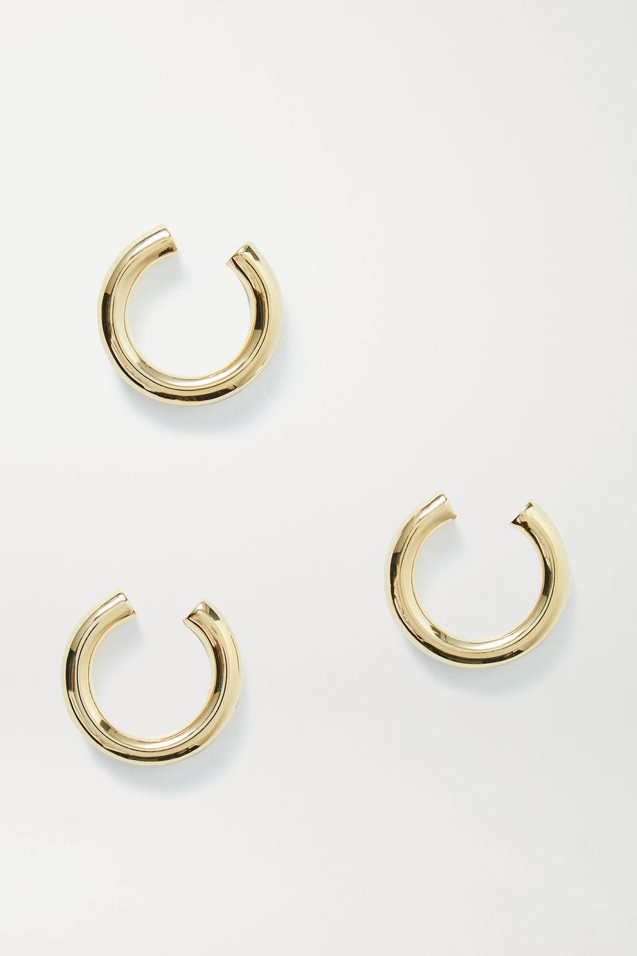 Jennifer Fisher Lilly Set aus drei vergoldeten Ear Cuffs