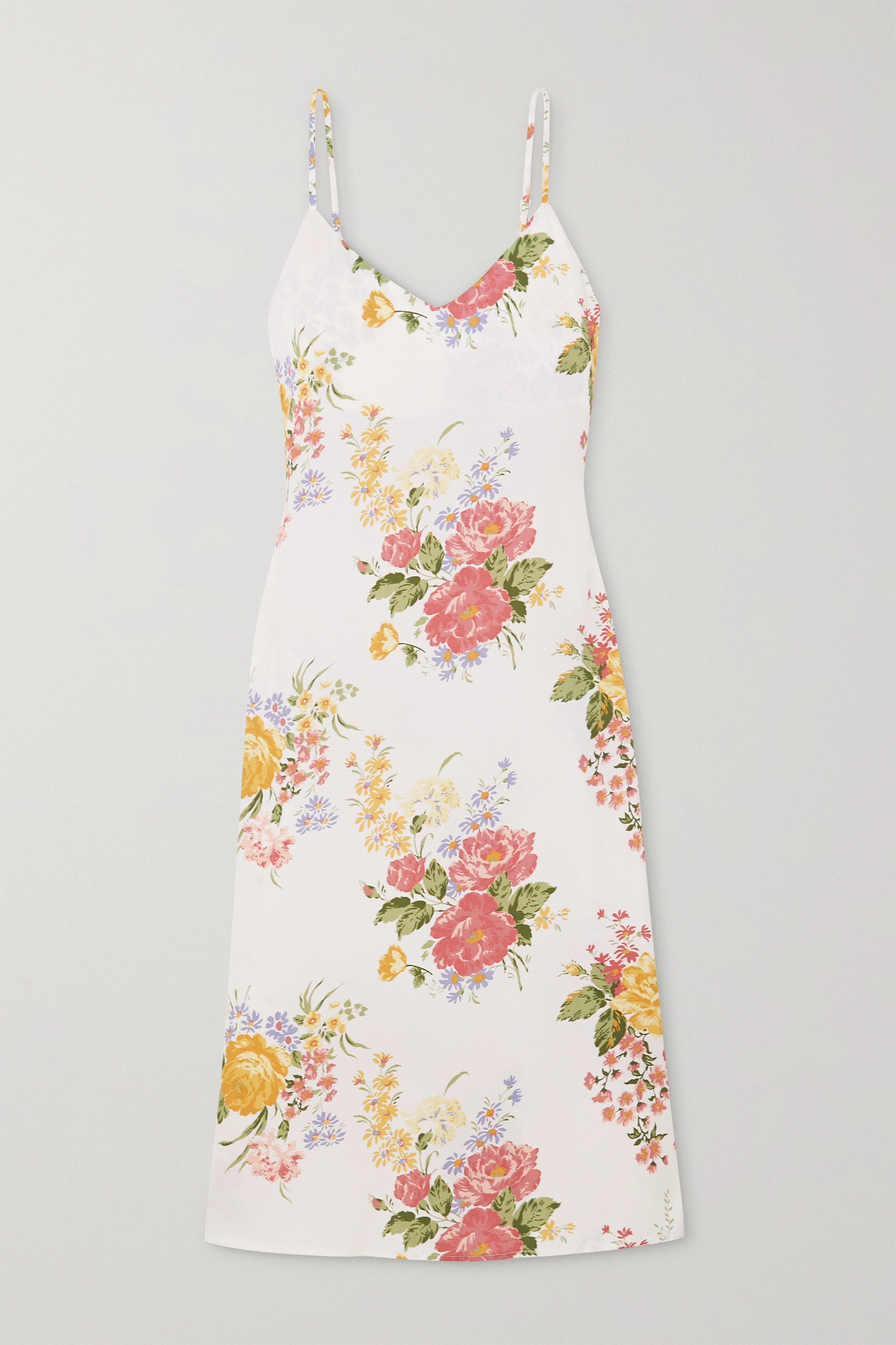 Reformation + NET SUSTAIN Boston floral-print crepe midi dress