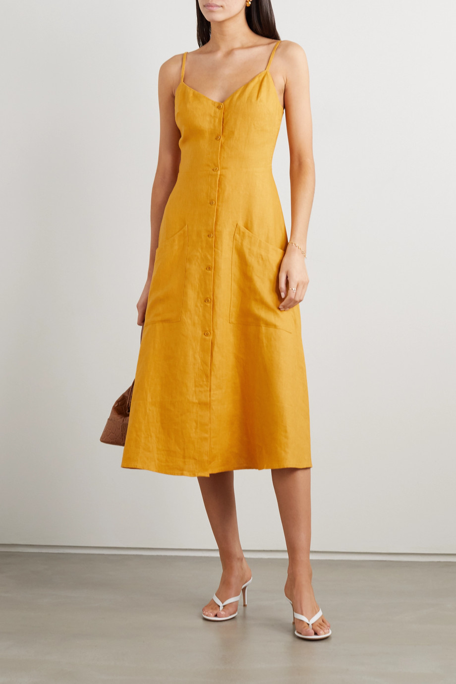 Reformation + NET SUSTAIN Parke linen midi dress