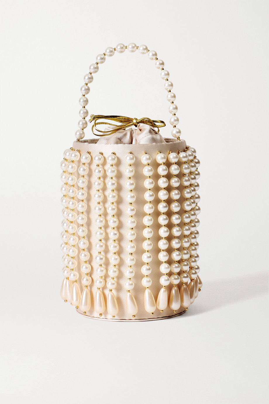 Vanina La Comedie embellished satin-twill and gold-tone tote
