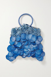 Nannacay + NET SUSTAIN Majorie paillette-embellished velvet and suede tote