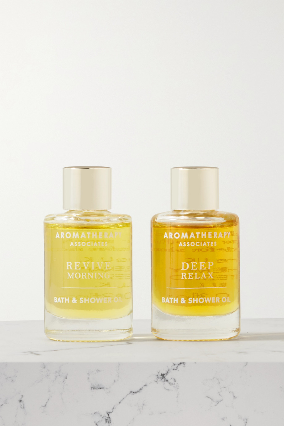 Aromatherapy Associates Perfect Partners Essential Bath & Shower Oils, 2 x 9 ml – Set aus zwei Badeölen