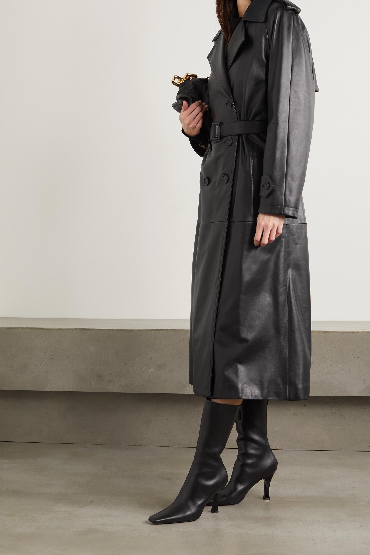 Dolce & Gabbana Trench-coat en cuir à ceinture