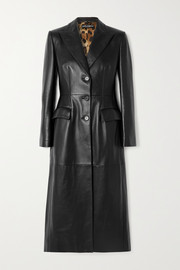 Dolce & Gabbana Topstitched leather coat