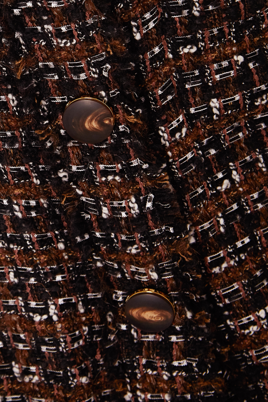 Black Bouclé-tweed Coat | Dolce & Gabbana
