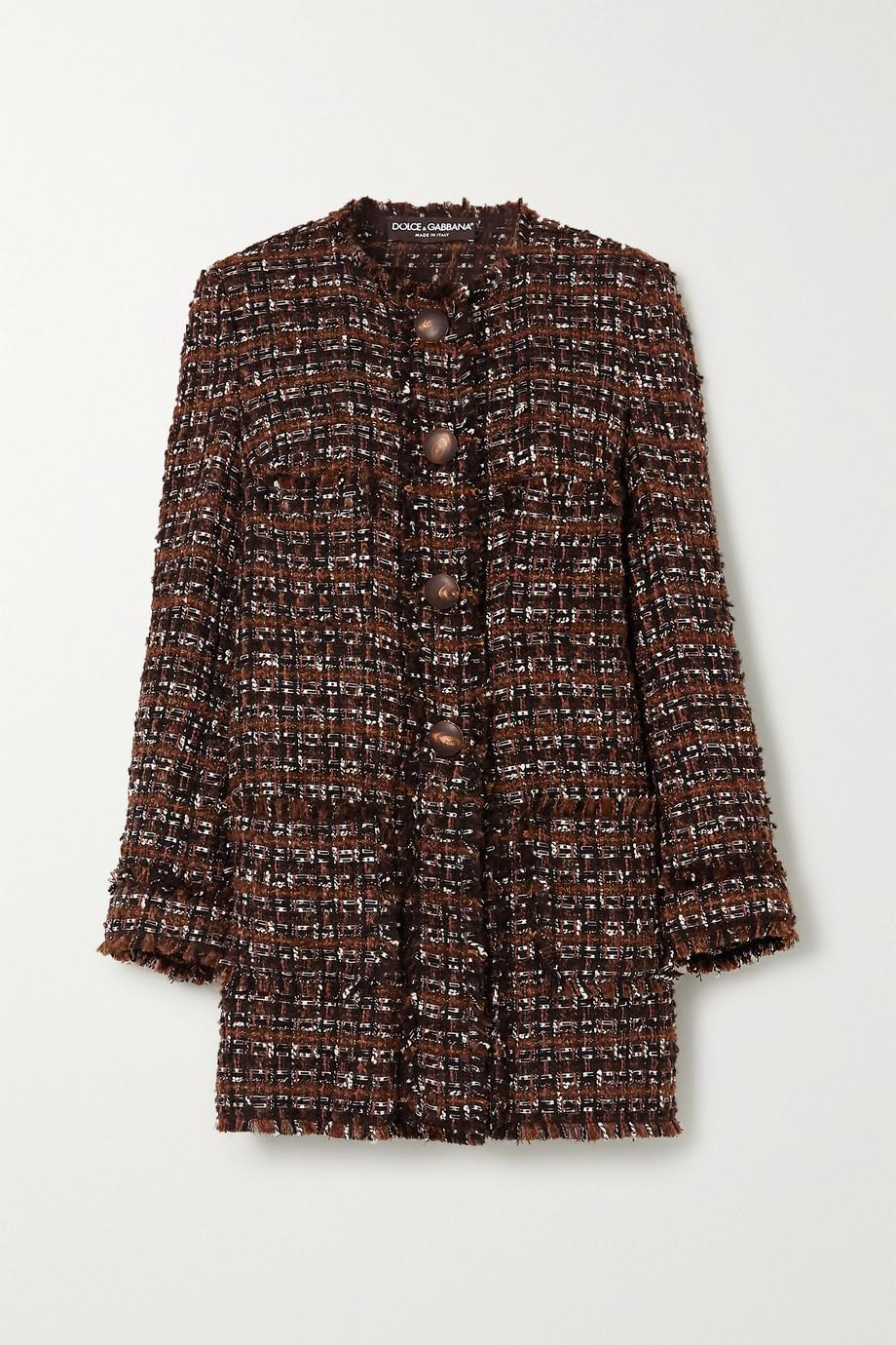 Dolce & Gabbana Mantel aus Bouclé-Tweed