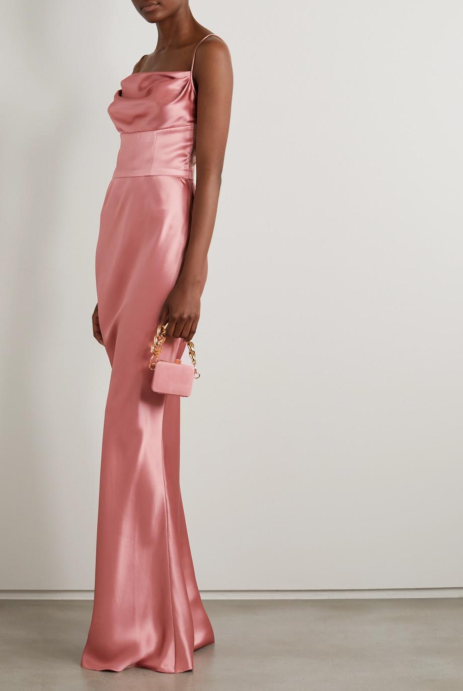 Dolce & Gabbana Draped silk-satin gown