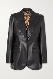 Dolce & Gabbana Topstitched leather blazer