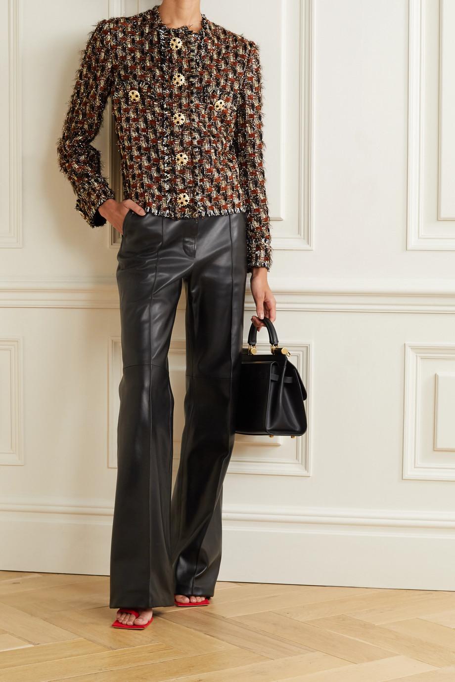 Dolce & Gabbana Veste en tweed bouclé métallisé à ornements