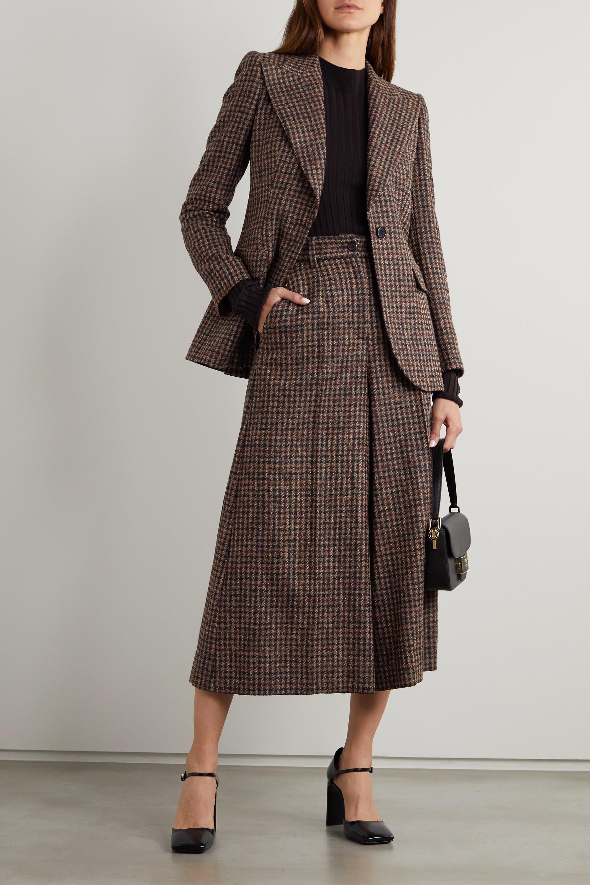 Brown Houndstooth Tweed Blazer | Dolce & Gabbana