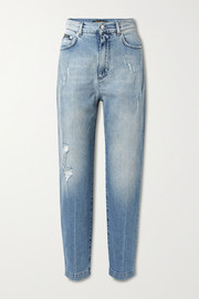 Dolce & Gabbana Distressed high-rise boyfriend jeans