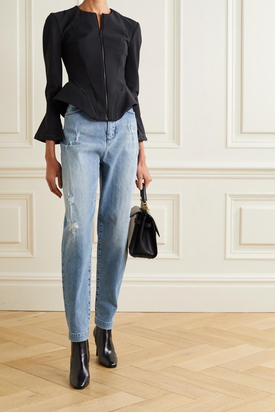 Dolce & Gabbana Jean boyfriend taille haute effet vieilli