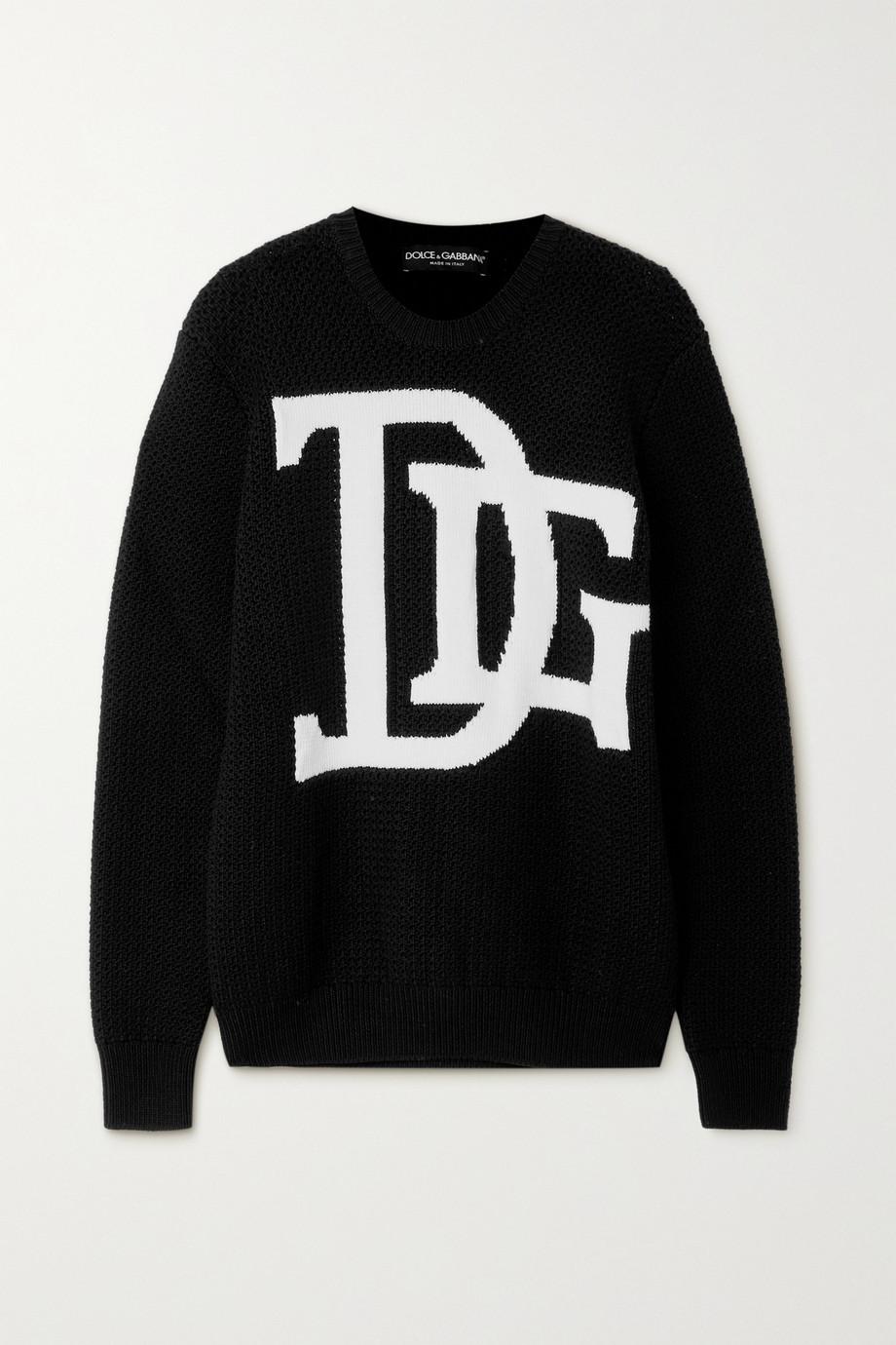 Dolce & Gabbana Intarsia wool sweater