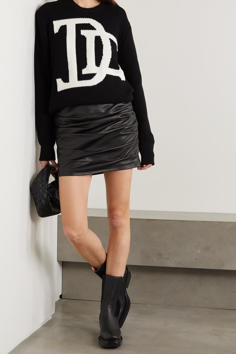 Dolce & Gabbana Wollpullover mit Intarsienmotiv