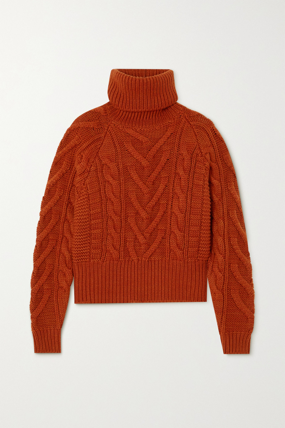 Dolce & Gabbana Cable-knit wool and cashmere-blend turtleneck sweater
