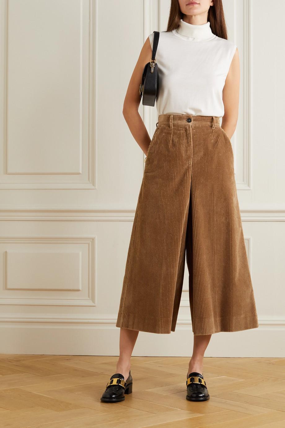 Dolce & Gabbana Cotton-blend corduroy culottes