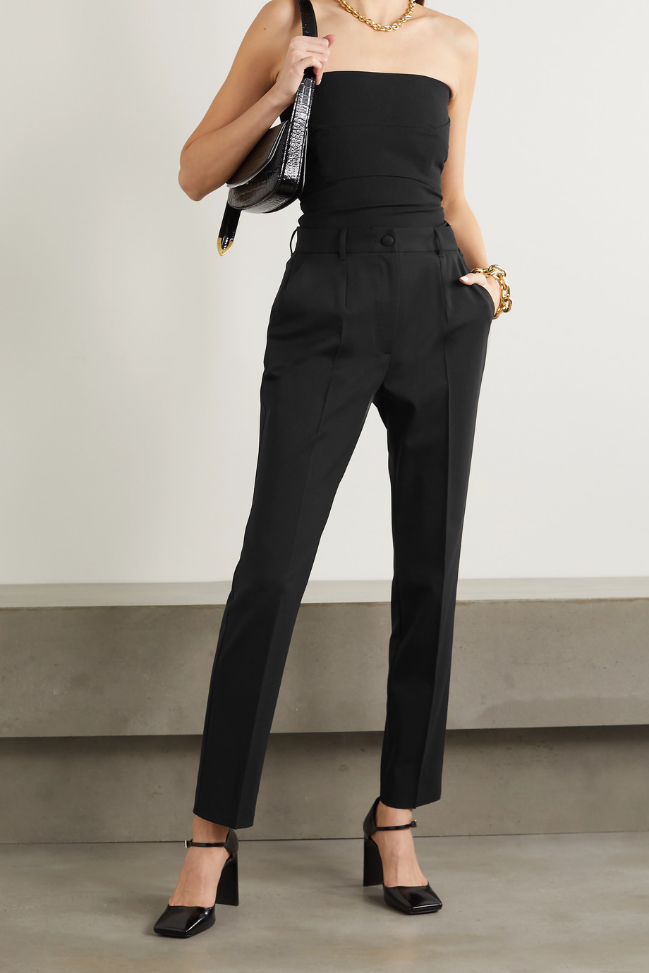 Dolce & Gabbana Wool-blend straight-leg pants