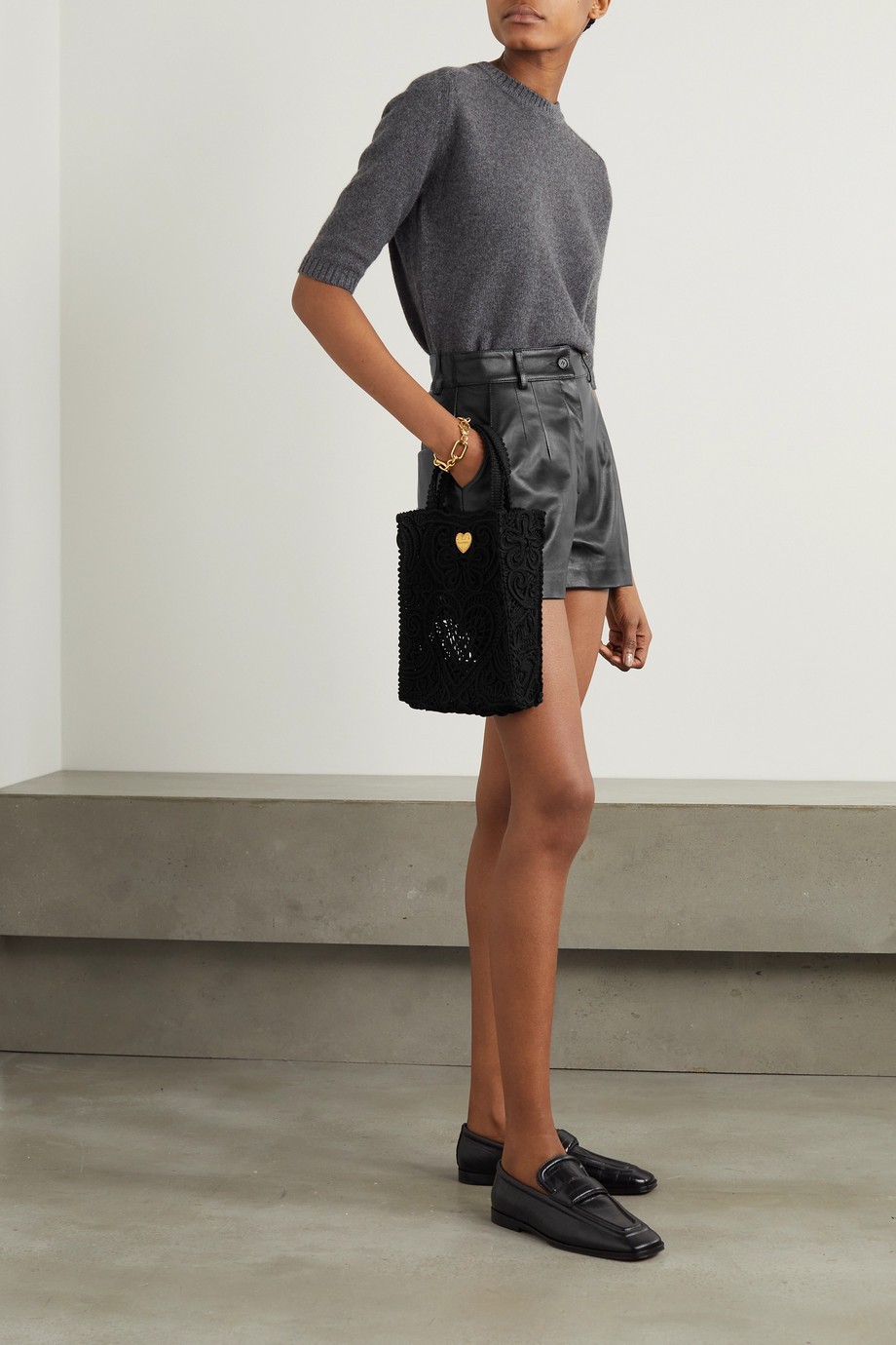 Dolce & Gabbana Leather shorts