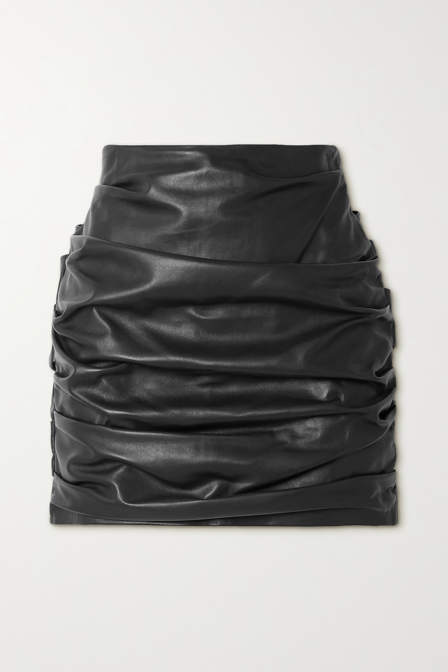 Dolce & Gabbana Ruched leather mini skirt