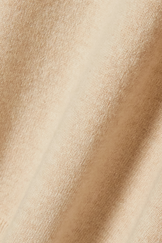 Beige + Net Sustain Crochet-trimmed Cashmere And Wool-blend Sweater | Stella Mccartney