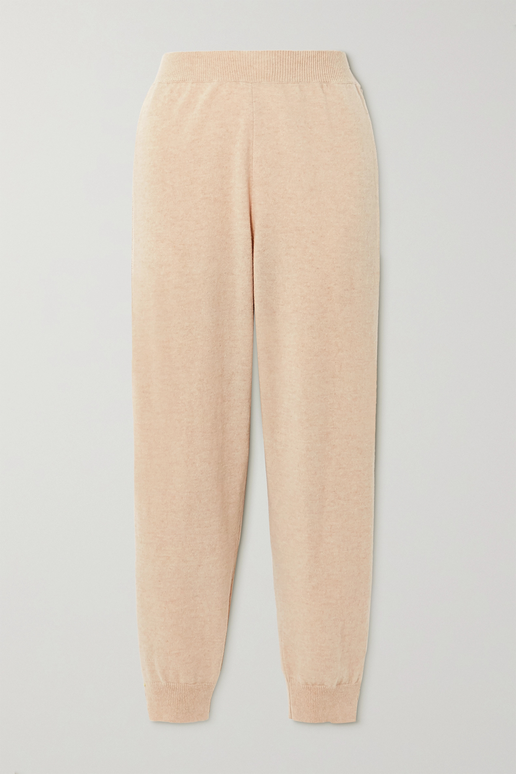Stella McCartney + NET SUSTAIN crochet-trimmed cashmere and wool-blend track pants
