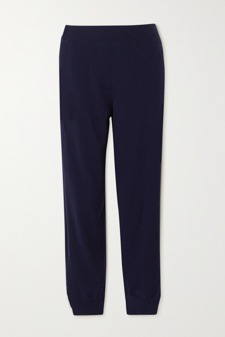 Stella McCartney Crochet-trimmed cashmere and wool-blend track pants